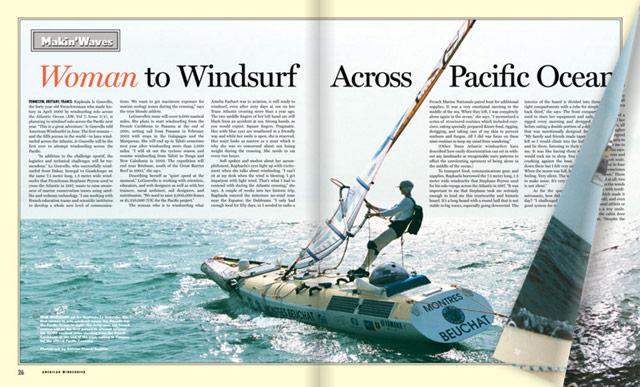 Windsurf Across Pacific Ocean